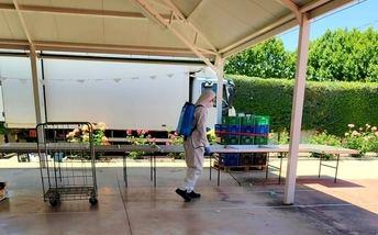 Efectivos del SEPEI trabajaron en 37 localidades de Albacete desinfectando mercadillos