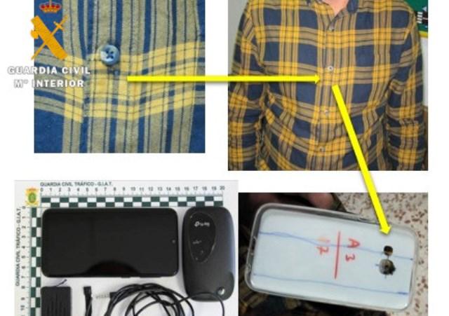 Un detenido con identidad falsa y cuatro sorprendidos con dispositivos electrónicos en el teórico de conducir