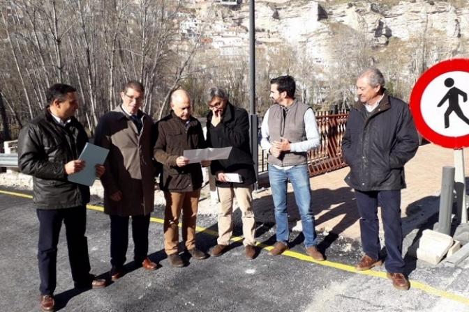 Comienzan las obras tras el desprendimiento sobre la CM-3201 en Alcalá del Júcar, con un coste de 270.000 euros