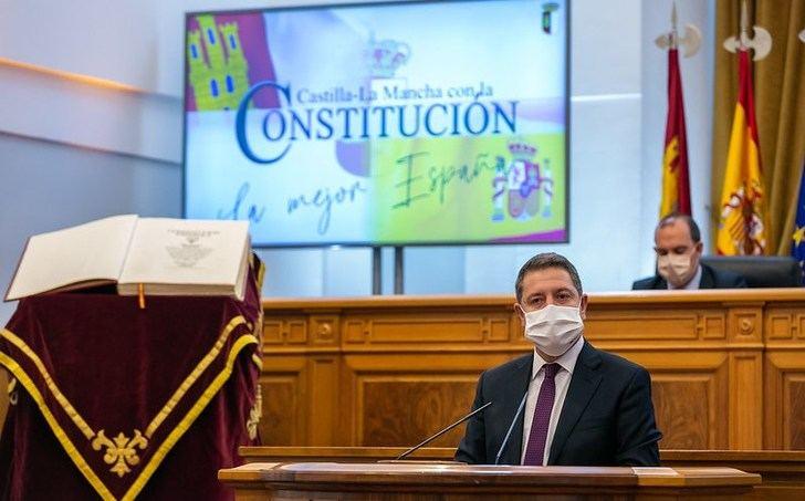 Castilla-La Mancha celebró este lunes en las Cortes el Día de la Constitución