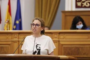 La diputada de Ciudadanos Úrsula López en el pleno de las Cortes