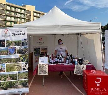 Stand de los vinos de la DOP Jumilla en la feria 'Rock & Wine'