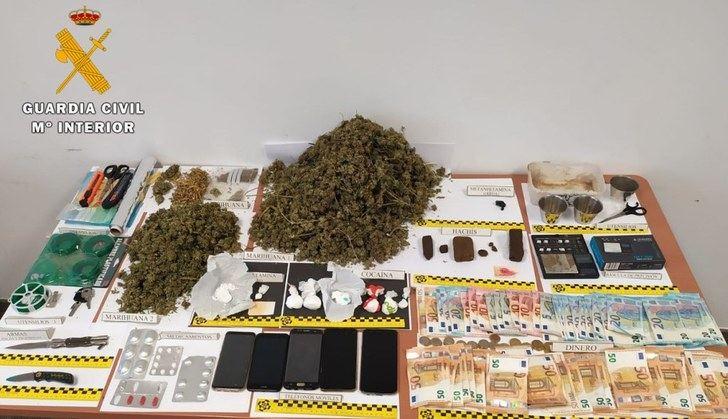 Golpe a la droga en Tobarra (Albacete) con 6 detenidos y 'cierre' de un punto de venta