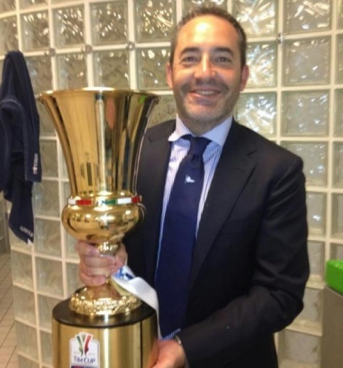 Antonio Gómez, ganador de la Copa de Italia con el Nápoles