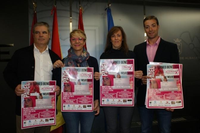 II Torneo benéfico de pádel a favor de ACEPAIN los días 10, 11 y 12 de noviembre en el Club Los Llanos de Albacete