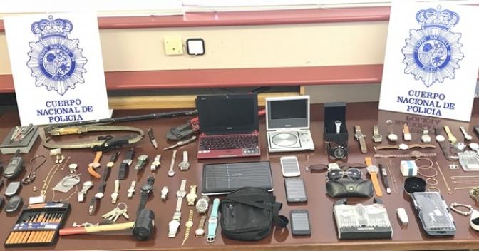 La Policía Nacional desarticula un grupo itinerante especializado en robos con fuerza en numerosos domicilios