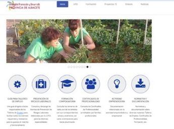 La Unidad de Promoción y Desarrollo de la provincia de Albacete, dirigida a Talleres de Empleo, estrena nueva página web