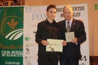 El diputado provincial de Educación entregó los premios del XII Concurso de Piano Diputación de Albacete