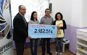 'El reto de Marisol' logra en Hellín 2.180 euros para la Asociación Desarrollo con la que comprar diverso material