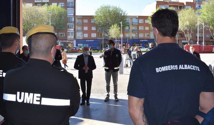 18 profesionales de los servicios de emergencias de C-LM se formarán en el parque de bomberos de Albacete