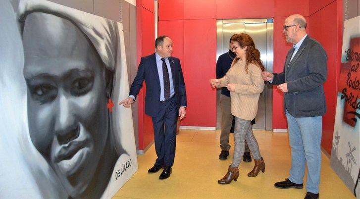 Clausura de la muestra de grafitis de la Cruz Roja en el Centro Joven de Albacete