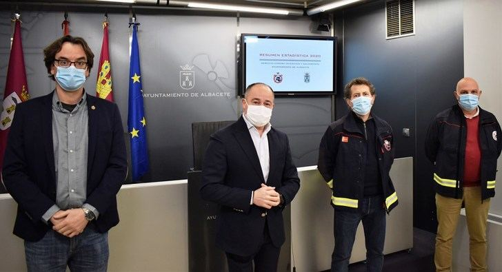 El servicio de bomberos de Albacete realizó más de 800 desinfecciones por el coronavirus