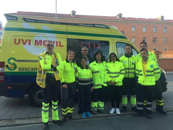 Enfermeras peruanas realizan prácticas con profesionales de atención primaria, emergencias y transporte sanitario en Albacete