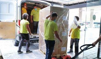 Castilla-La Mancha llega a los 52,5 millones de artículos de protección enviados a los centros sanitarios