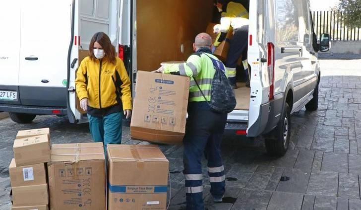 672.000 artículos de protección llegaron esta semana a los centros sanitarios de Castilla-La Mancha