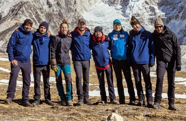 Óscar Cardo, el 'ángel de la guarda' de los deportistas de Amiab en su escalada al Everest