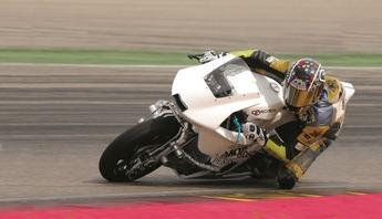 El proyecto 'La Moto2' se prueba  en el Circuito de Albacete con Adrián Bonastre