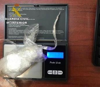 Detenida una persona por tráfico de drogas y llevar encima 37 gramos de cocaína en Corduente (Guadalajara)