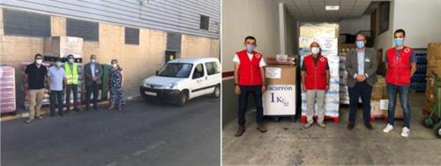 Mercadona entrega más de 8.000 kilos de alimentos a Cruz Roja y Caritas Hellín