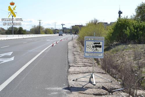 Investigado por circular a 225 kilómetros por hora en una carretera limitada a 120 en Corral de Almaguer (Toledo)