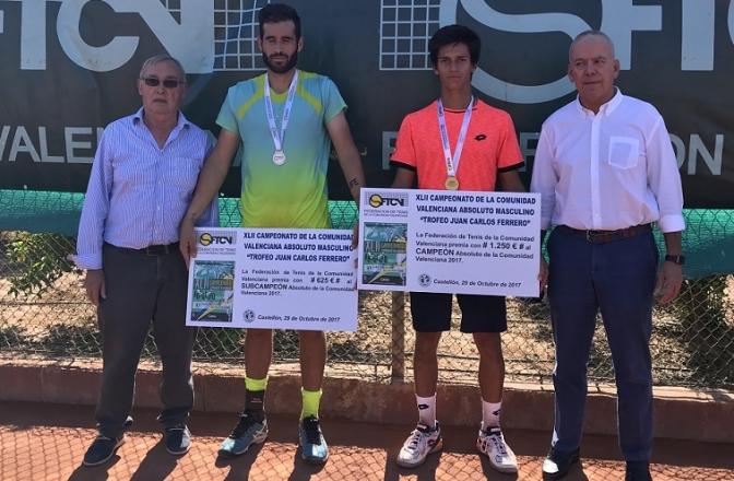 El tenista albaceteño Carlos Sánchez Jover se proclama campeón absoluto de la Comunidad Valenciana