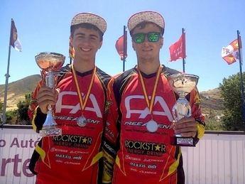 Alex y Javi García, subcampeones de España de BMX en Tenerife