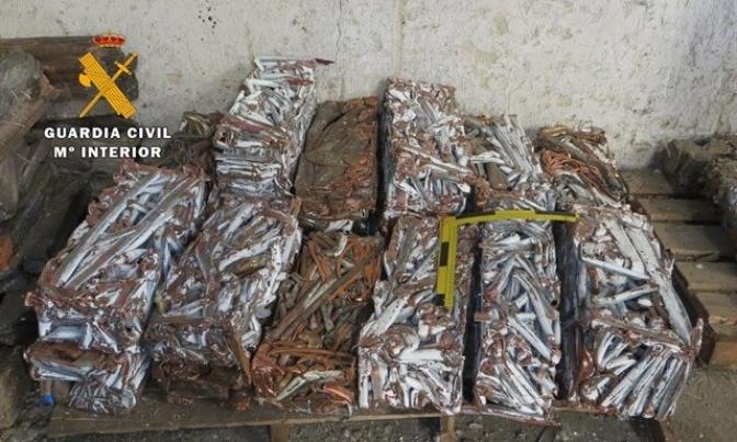 Detenidas 26 personas por robar 10 toneladas de cobre en varias provincias, entre ellas Toledo y Ciudad Real