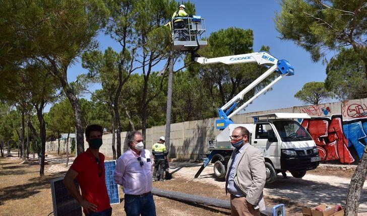 409 farolas iluminarán ahora los 4 kilómetros del parque periurbano La Pulgosa, de Albacete