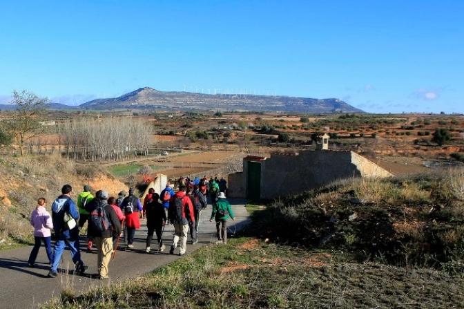 Alpera acoge la V edición de senderismo de la Diputación Provincial