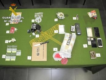 Detenidos dos hombre en la provincia de Cuenca por tráfico de droga