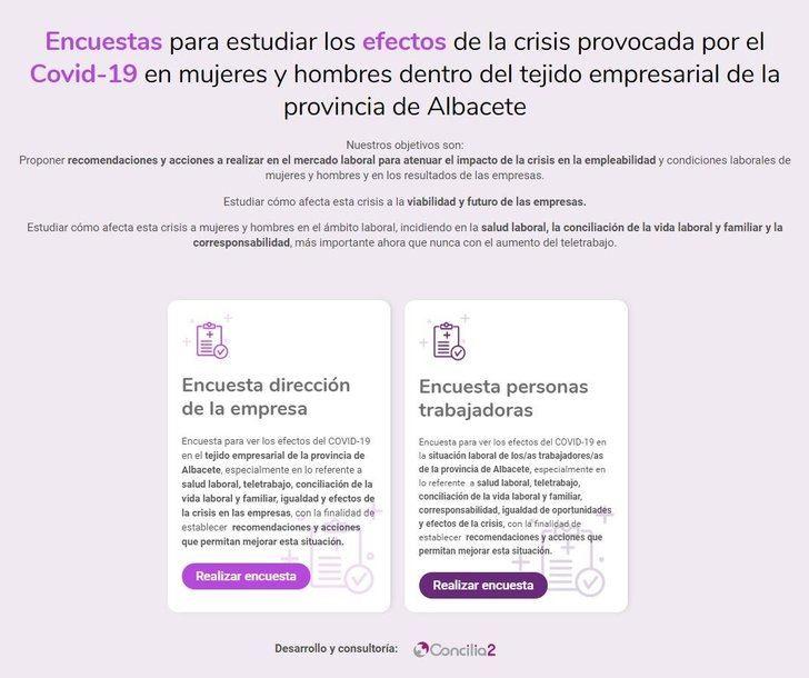 El Observatorio de Igualdad en Relaciones Laborales de Albacete comienza las encuestas para evaluar el impacto del coronavirus