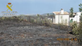 Investigados 3 hombres por provocar un incendio al hacer una barbacoa el pasado mes de julio en Madridejos (Toledo)