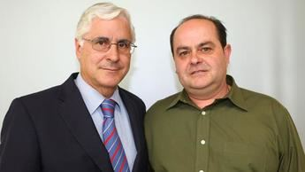 Francisco Ramón García cuando era alcalde junto al expresidente regional Barreda
