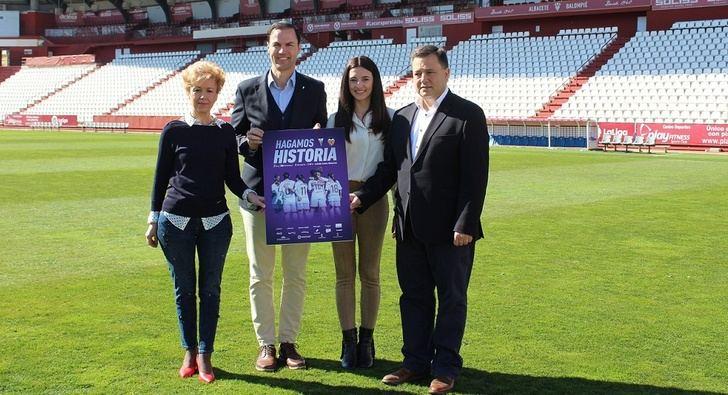 Ayuntamiento y Diputación de Albacete apoyan el partido del Fundación Albacete femenino ante el Valencia Féminas