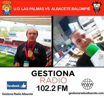 Gestiona Radio Albacete retransmite el encuentro de fútbol Las Palmas-Albacete