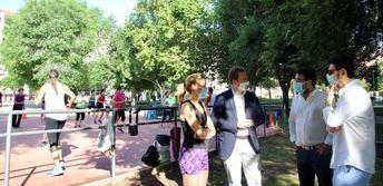 Las sesiones de gimnasia al aire libre en Albacete se mantendrán en julio con otros horarios
