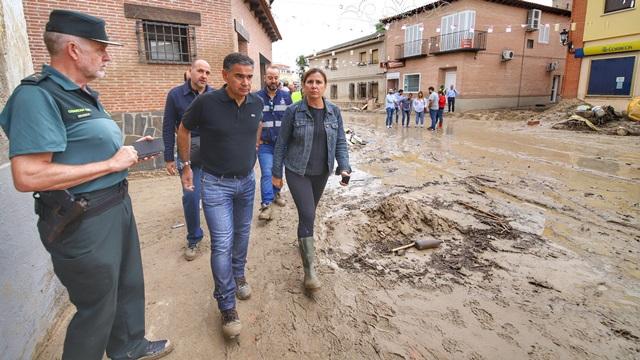 El delegado del Gobierno anuncia que va a trabajar para evitar que se repitan situaciones como las inundaciones de Cebolla (Toledo)