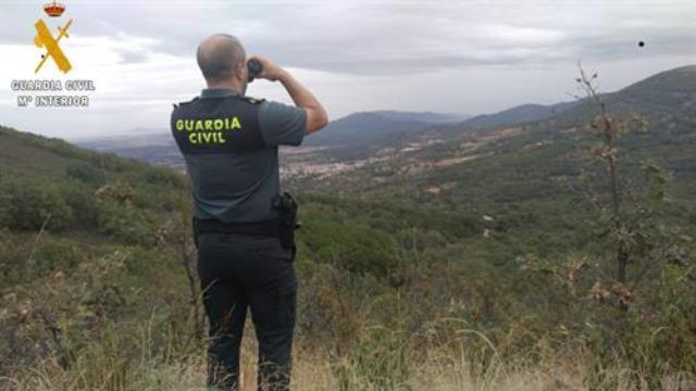 La Guardia Civil rescata a dos personas que se habían perdido en los Montes de Toledo