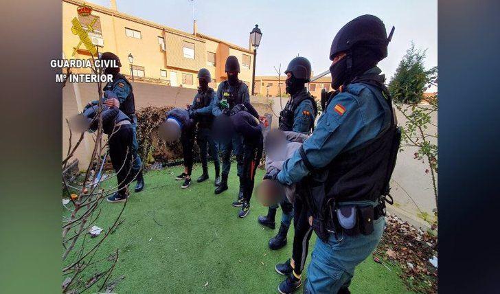 La Guardia Civil desarticula un grupo criminal por robar en 27 municipios de Toledo y Ciudad Real