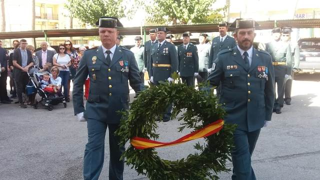 Diversos actos en la celebración en Hellín de la patrona de la Guardia Civil