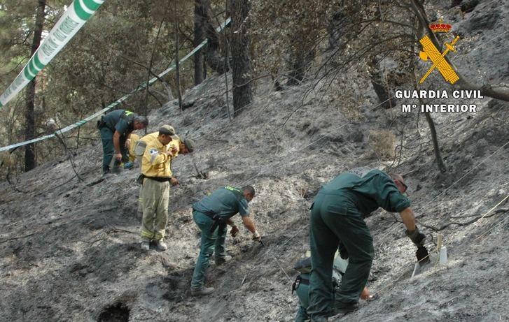 La Guardia Civil de Albacete detiene a dos personas como autores de provocar un incendio forestal en Yeste