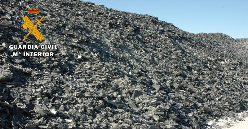 La Guardia Civil destapa en Almansa una trama que importó 37 millones de kilos de residuos peligrosos