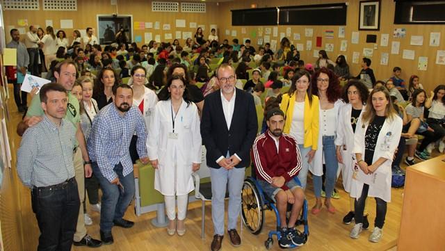 El Hospital General de Villarrobledo acoge unas jornadas para reforzar hábitos de vida saludables entre 450 alumnos
