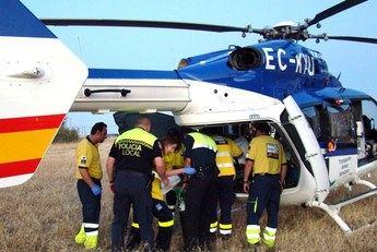 Una mujer, trasladada en helicóptero a Albacete, y un hombre y dos niños heridos leves en un accidente en Minglanilla (Cuenca)