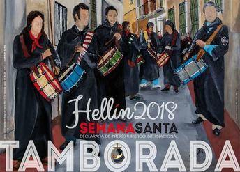 El cartel de la Tamporada 2018 y el de la Semana Santa marcan casi el inicio de estas fiestas en la localidad de Hellín.