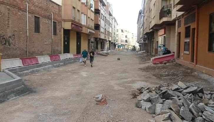 Las obras de la calle Balmes de Hellín han entrado en su recta final