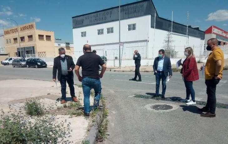 Los empresarios del polígono San Rafael explican al alcalde de Hellín sus necesidades