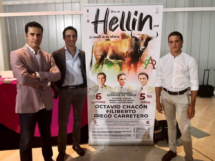 Los toros de Miura vuelven a Hellín con Octavio Chacón, Filiberto y Diego Carretero en el cartel