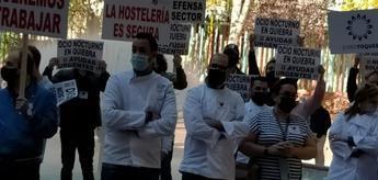 Los hosteleros de Castilla-La Mancha manifiestan este miércoles porque no quieren seguir pagando 'los platos rotos' del covid