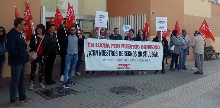 Trabajadoras de la limpieza de los centros de salud de la comarca de Hellín (Albacete) comienzan una huelga de seis días